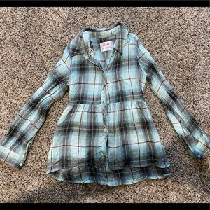 Girls Justice button flannel size 12